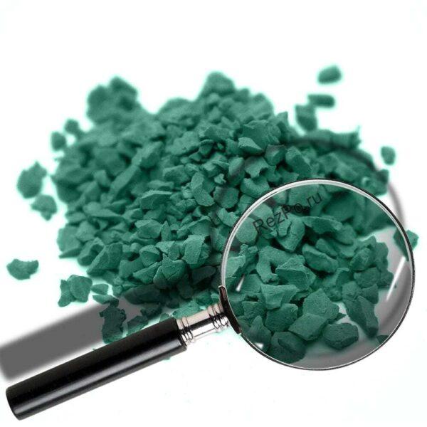 крошка эпдм цвет RAL-6000-Патиново-зелёный