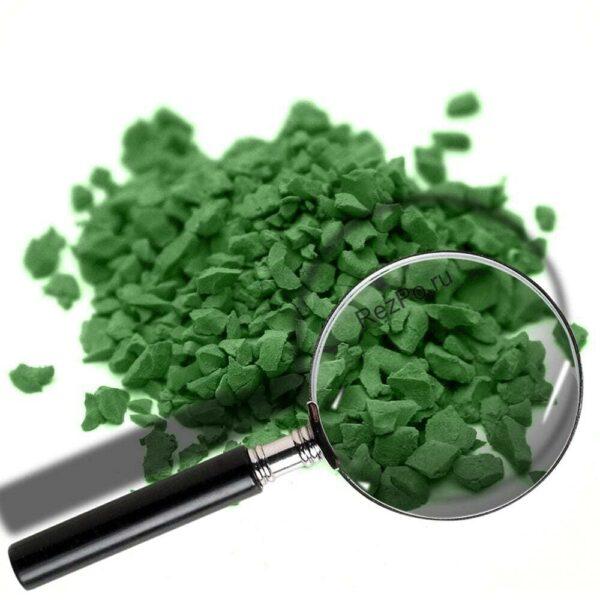 крошка эпдм цвет RAL-6010-Травяной-зелёный