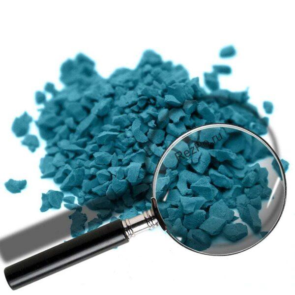 крошка эпдм цвет RAL-5009-Лазурно-синий