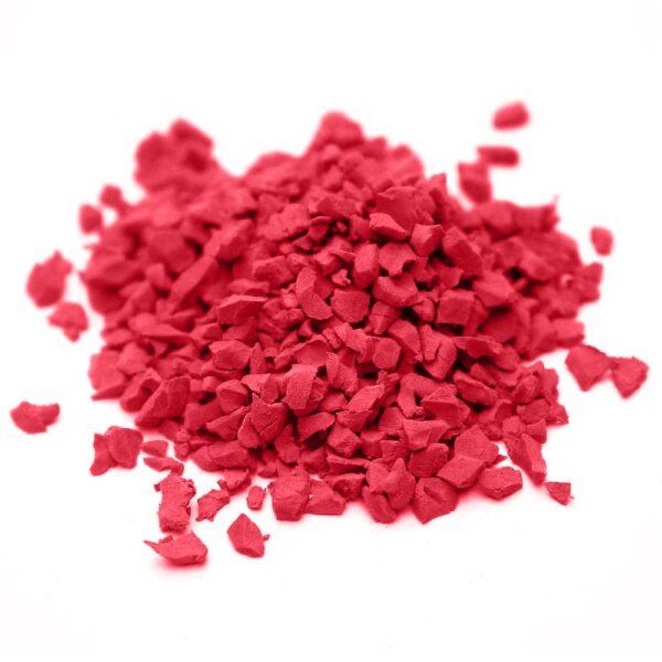 окрашенная резиновая крошка SBR RAL-3028-Красный