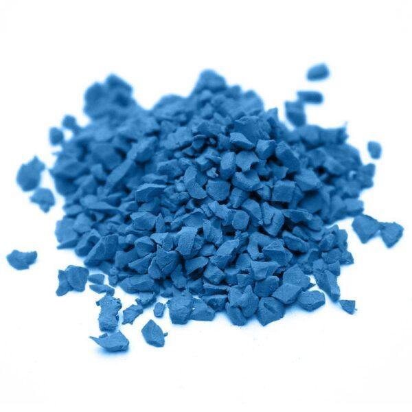 окрашенная резиновая крошка SBR RAL-5012-Голубой
