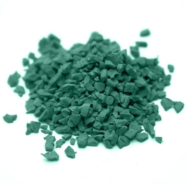 окрашенная резиновая крошка SBR RAL-6000-Патиново-зелёный