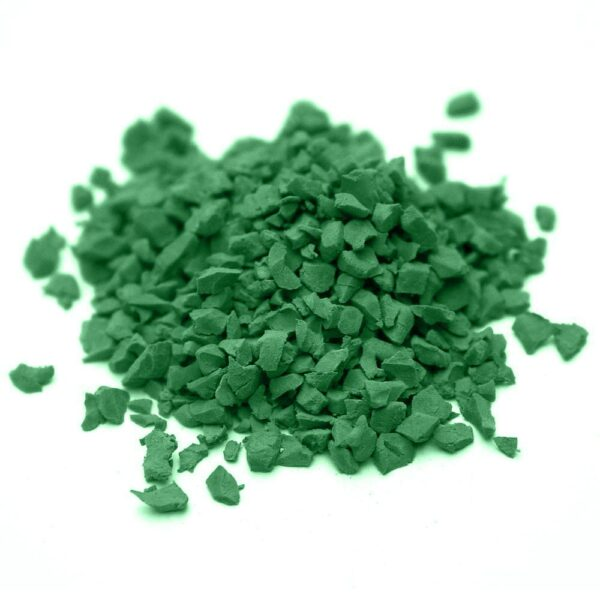 окрашенная резиновая крошка SBR RAL-6001-Изумрудно-зелёный