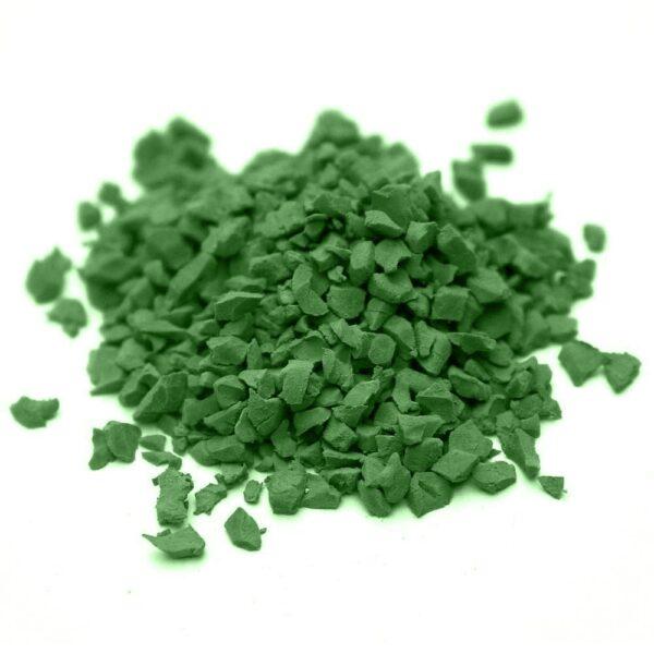 окрашенная резиновая крошка SBR RAL-6010-Травяной-зелёный