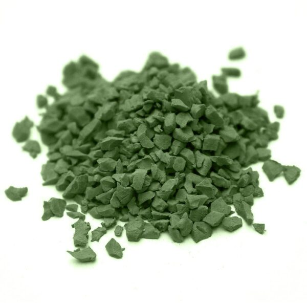 окрашенная резиновая крошка SBR RAL-6025-Папоротниково-зелёный