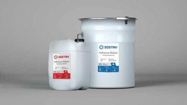 Двухкомпонентное полиуретановое связующее для камня SOSTAV Adhesive-Ballast
