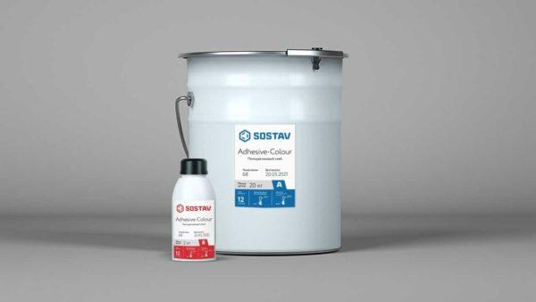 Клей для окрашивания резиновой крошки SOSTAV Adhesive-Colour