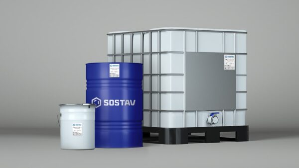 клей повышенной эластичности в разной таре для бесшовного резинового покрытия SOSTAV Adhesive-Cover