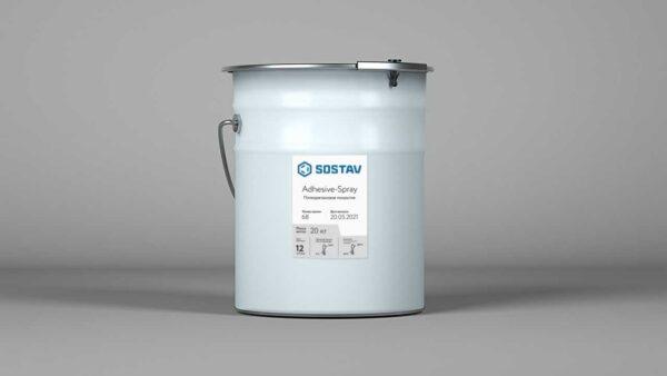 Покрытие в ведре для устройства беговых дорожек Adhesive-Spray